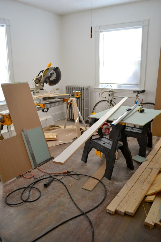 bedroom full of saws