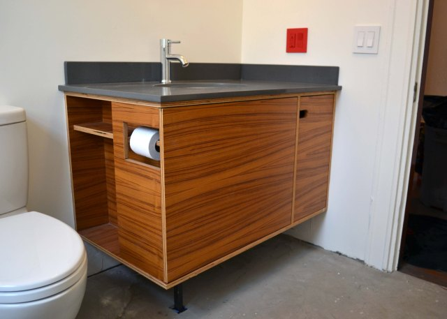 teak bathroom vanity