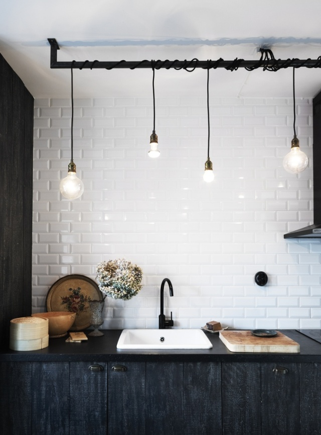 wrapped cord kitchen lights