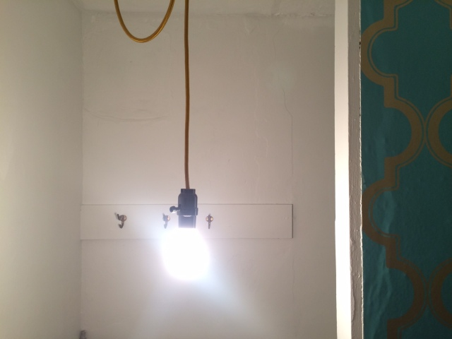 Hanging Light and Hooks